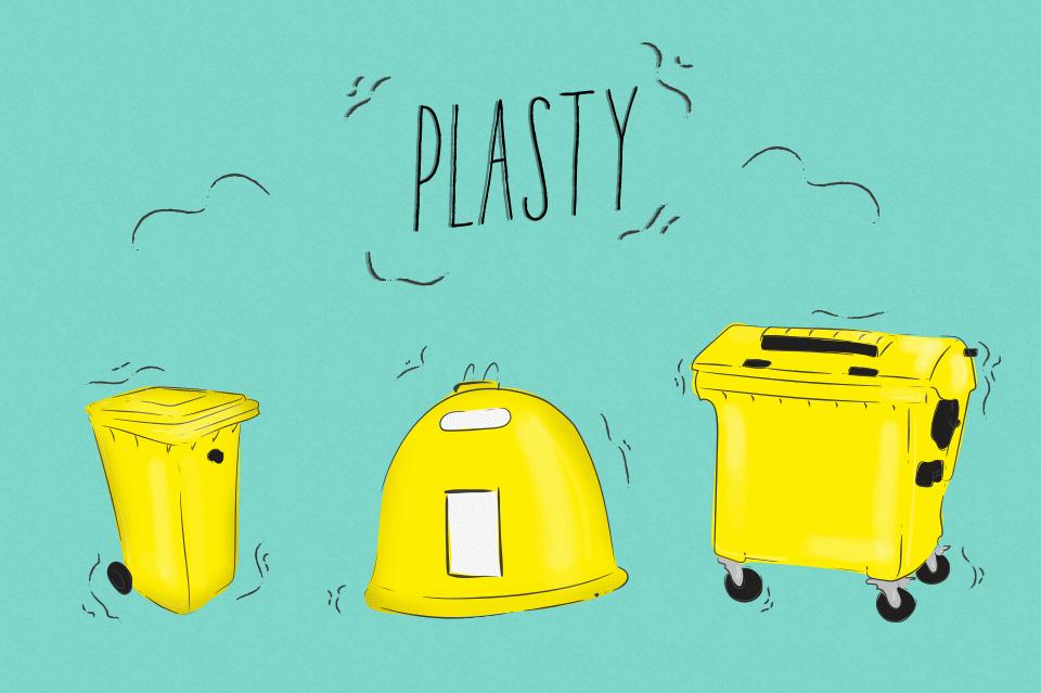 Třídíme odpad na plastový, smíšený a bioodpad